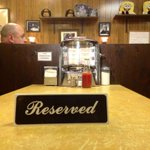 "#RIP: Table at #Holstens where James Gandolfini sat in finale of The Sopranos marked ""reserved"" in his honor tonight: http://t.co/xh01TxCjt0"