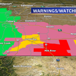 7:12pm  Red = Tornado Warning  Yellow = Severe T-storm Warning  Pink = Severe t-storm Watch  Green = Rainfall Warning http://t.co/1iyzGGRWCi