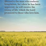 Blessed is the man who endures temptation, for when he has been approved, he will receive the … (James 1:12) http://t.co/PEZ13BSKog