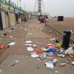 An awful lot of rubbish has appeared overnight on the stretch of beach weve been clearing every morning. http://t.co/CkJ7v6s52O