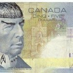 """Adieu to the great Leonard Nimoy. Honoured so many Canadians thought we looked alike & would """"Spock"""" their $5 bills: http://t.co/hpTZmKmL9L"""