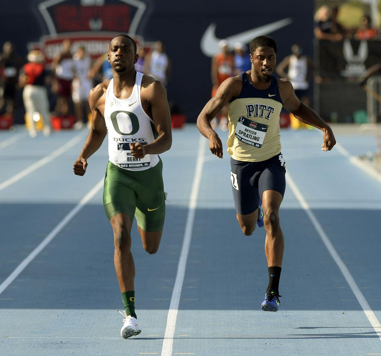 Mike Berry @OregonTF 45.58Q 400M @USATrack_Field #USAoutdoors 20 June 2013 http://t.co/1DOfvzkxnL