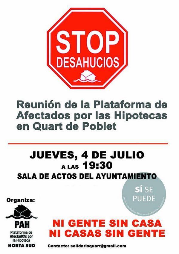 RT @Felipedlfg: @monicaoltra @eupv_mislata @EUPV_Torrent @psoequart @CompromisQuart  Nos ayudáis a difundir? @SolidarisQuart http://t.co/aMt54Ht9MW