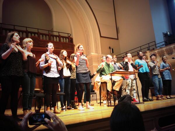 RT @holstsingers: The @RoundhouseChoir body percussion looks & sounds amazing. LOVE IT! #VoicesNow2013 #citysongs http://t.co/zJn5mRNjZS
