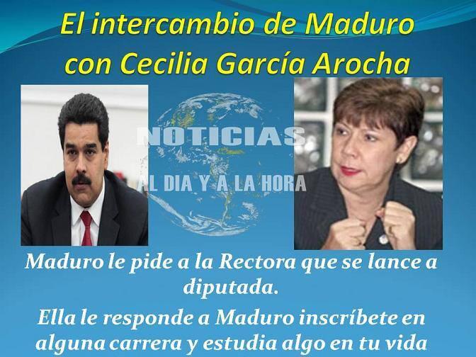 El intercambio de Maduro con Cecilia García Arocha (Imagen)#PreguntasDeEliasJaua http://t.co/ZM2k7EZaxH