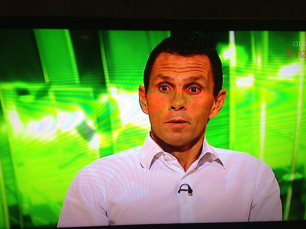 BNeCoW4CUAEeVAf Bizarre! Ex Brighton manager Gus Poyet finds out hes been sacked live on TV