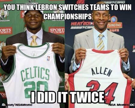 Ray Allen is worse than Lebron! http://t.co/JgfMpP5DgW