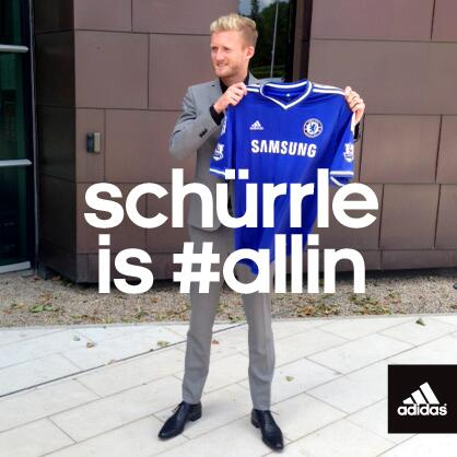 RT @adidasUK: Welcome to London @Andre_Schuerrle! #allincfc http://t.co/fCfpFnQbgc