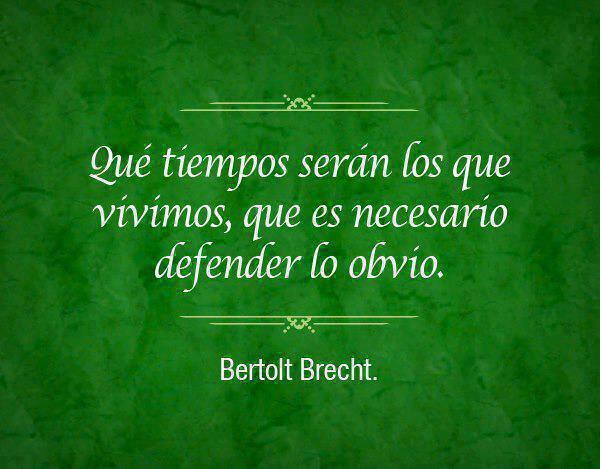 """""""Que tiempos serán..."""" #Brecht : http://t.co/A73gGsQUEk"""