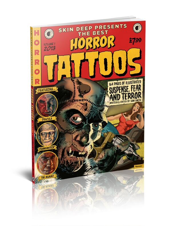 Skin Deep Presents the Best Horror Tattoos is now on sale in WHSmith. I suggest you all nip out at lunchtime. http://t.co/9zryblnh1m