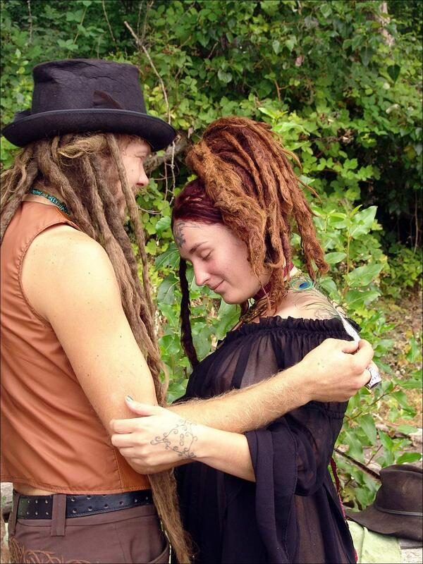 #dreadlocked couple, #hippiegoddess Irish and Levi. We did 5 incredible, robust sets of images with them