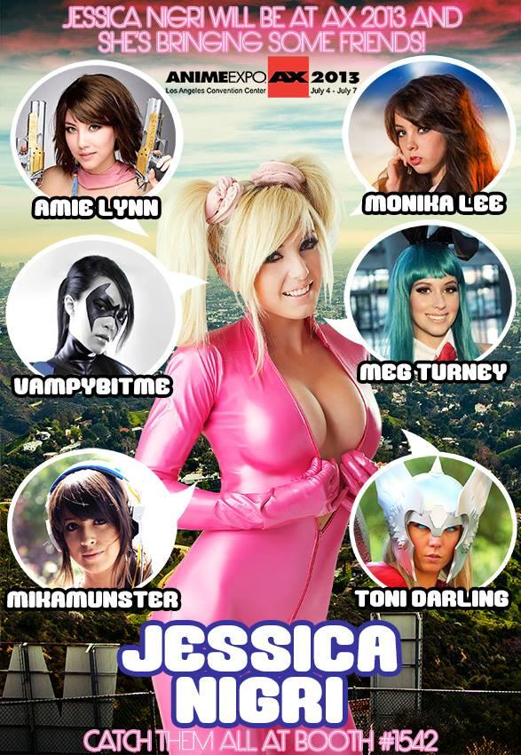 RT @OJessicaNigri: THIS YEAR AT @AnimeExpo I will have a booth! Come see @MnikaLee @VampyBitme @megturney @Mikamunster @misshabit &more! http://t.co/7NiubQ46pi