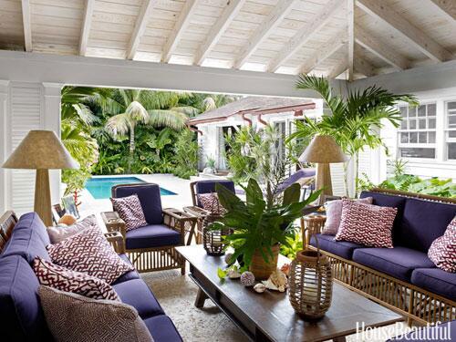 """I think large, primitive furniture makes bright color feel less fussy."" –Liza Pulitzer Calhoun http://t.co/ffkN5BHoCL"