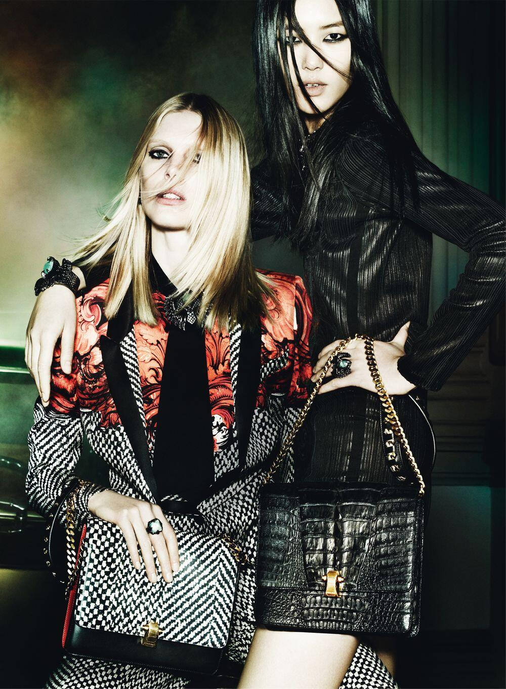 The fall campaign from @Roberto_Cavalli brings on the glam with @LiuWenLW and @IselinSteiro http://t.co/E1c0D5vK8t