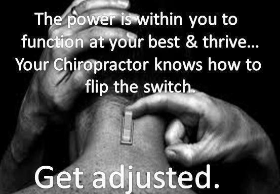 Turn the power on today! #Chiropractic #Adjustments http://t.co/vJyrrnNxI2