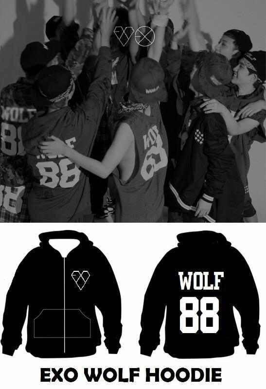 (PREORDER UNTIL 15 JULY 2013) HOODIE EXO WOLF. FULL BORDIR. IDR 150.000. BONUS: CALENDAR + PHOTOCARD http://t.co/2pjTHLtm08
