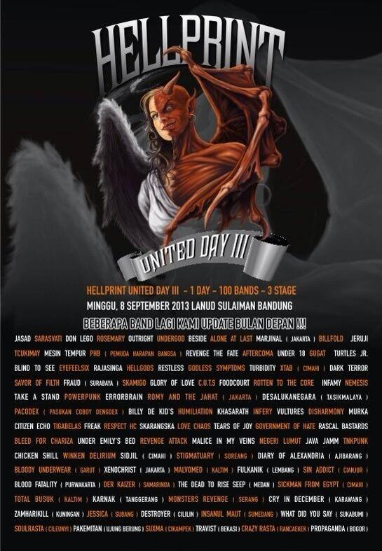 HELLPRINT UNITED III Minggu, 8 Sept 2013 - Lanud Sulaiman Bandung  Tiket Presale 35K Online tiket 089605042068 http://t.co/KlGM1TYJl8