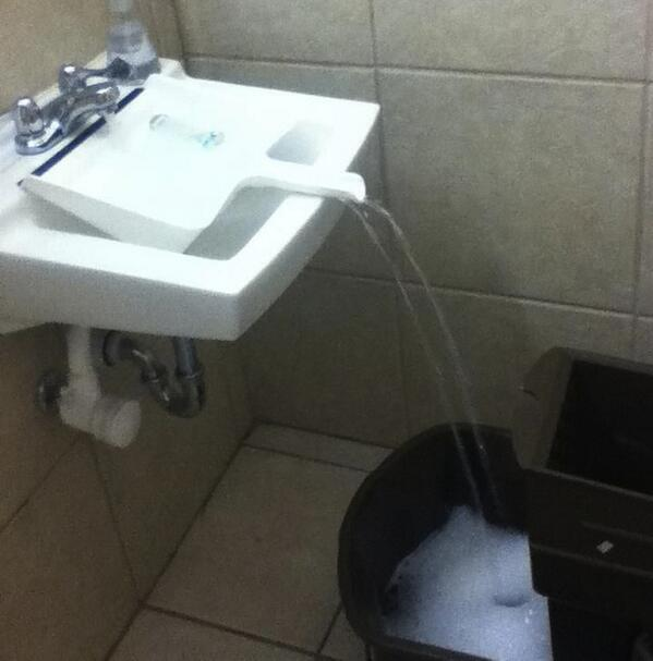 Use a [clean] dustpan to fill a container that doesn't fit in the sink. http://t.co/LIirREQ1op