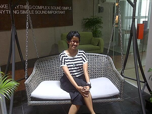 Welcome! RT @nsadjarwo first guest at mavtweets new office - first lady of her own land :D cc. @JediCamilla http://t.co/kpQkzuanpu