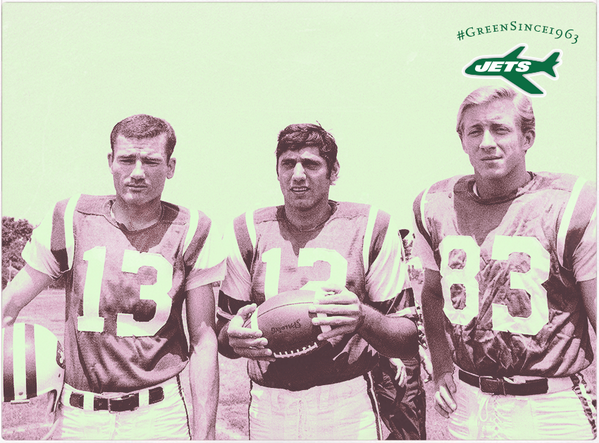Joe Namath poses for a photo with Don Maynard & George Sauer. Think this is one of the best trios in Jets history? http://t.co/M2y6ydGCQ0