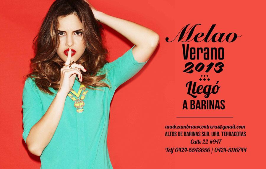 Recuerda @modamelao es una marca venezolana y en la ciudad de Barinas la puedes conseguir en @VentasLA Buenas Noches http://t.co/ZBVsmmtpBO