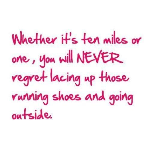 We've said this before and it is always true. You never regret a run. http://t.co/nam7Dz3RCI