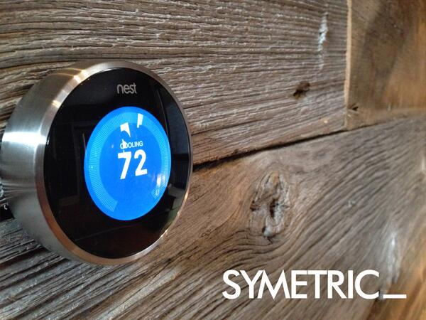 Good looking installation. MT @spcan: Meet the newest member of the Symetric Team! @nest keeps our climate perfect. http://t.co/HWDK8xzgnk
