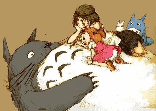 もののけ姫ととなりのトトロがコラボ♡