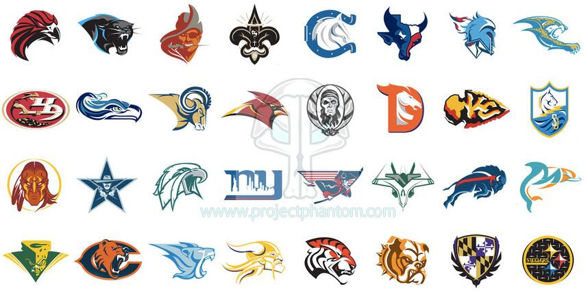 Awesome football logos in the nfl