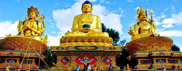 """The Light of Asia""  --Lord Buddha Three Buddha Park, Swayambhu,Nepal http://t.co/eqsKjnUt9g"