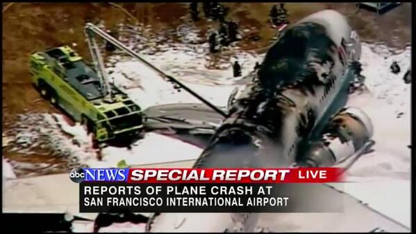 Gio Benitez (@GioBenitez): .@ABC Special Report on the air right now: Plane crash at San Francisco International Airport http://t.co/S34tbbfJGo