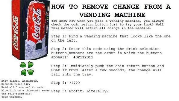 How to remove change from a vending machine: http://t.co/c4OdNUxyHC