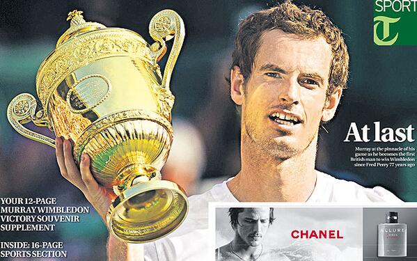 Telegraph Sport front page - Masterful Murray hits the pinnacle at last http://t.co/aSUS5MKwvY