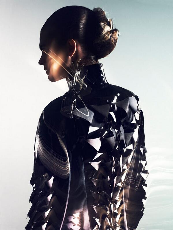 Julier Bugge wears futuristic style for @AnneSofieMadsen's autumn campaign. (Photo by Jens Langkjaer) http://t.co/grxZbp3Fmb