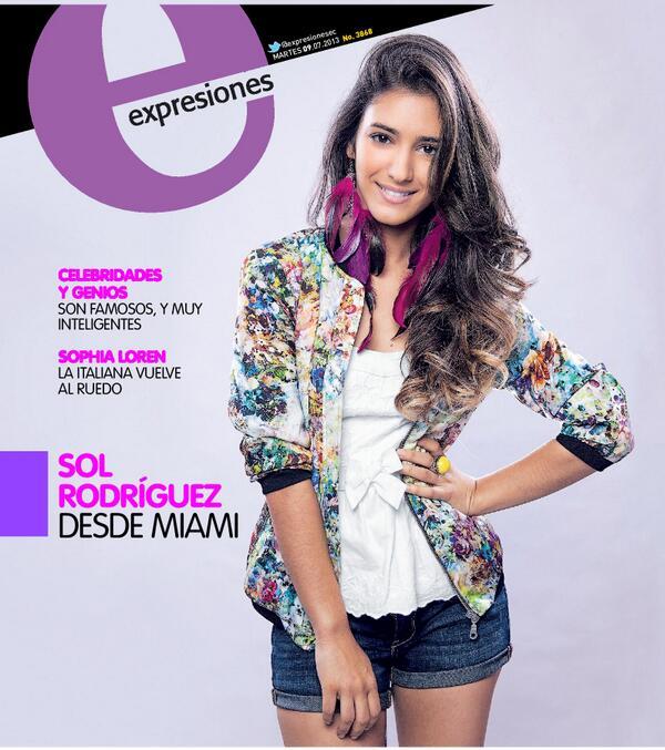 """Expresiones (@expresionesec): Nuestra PORTADA de hoy!  #SolRodríguez: 'Soy mujer de chocolates y hamburguesas"""" http://t.co/m4Nb7P7FUR http://t.co/PuZBY64TzI"""