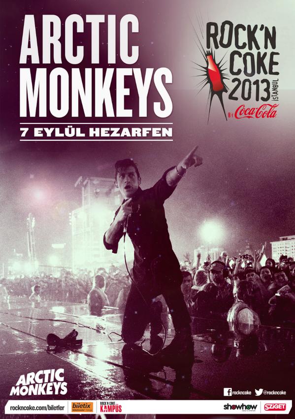 Yıllardır beklediğin Arctic Monkeys var ya, bu sefer kesin geliyor. http://t.co/5hrcguXJe4