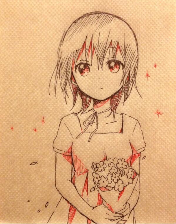 Рисунок аниме тянка