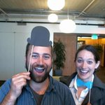 After liveblogging, sometimes you need a hat and tie MT @twisitor Thx @Twoffice for having @megangeuss + @cfarivar! http://t.co/FgbOiAZKVb