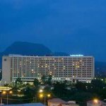 Transcorp Hilton Hotel, ABUJA. Look closer, you will see the Aso Rock behind it. #AbujaAtNight http://t.co/utXDWJUfLU