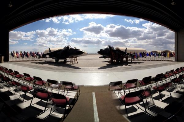 VMA-513 Harriers at the deactivation ceremony...  (taken with my iPhone via 360 app) http://t.co/xiY8Ab4LiR