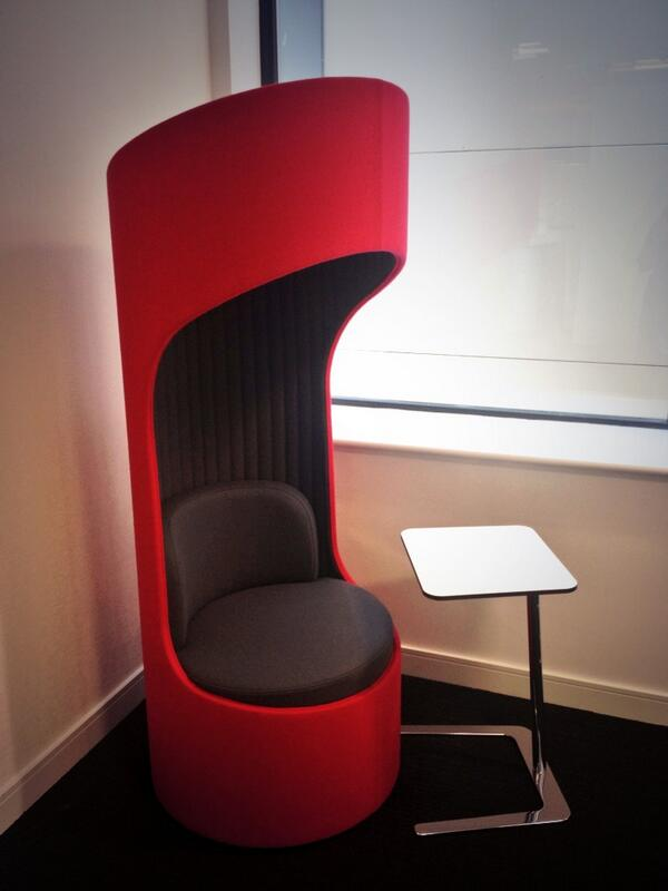 The #favethingaboutmyoffice are these weird and wonderful sound proof booths #Birmingham http://t.co/rEiXfzS5gM