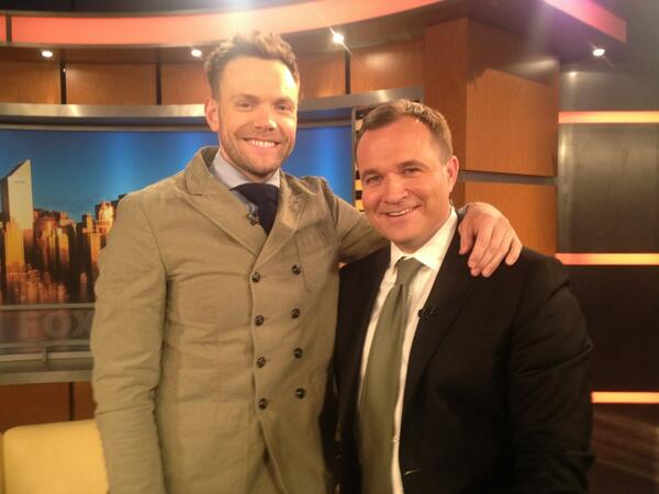 Relief as @joelmchale gives up Prussian military enlistment plans.He still loves the uniform @thesoup http://t.co/IsDvpuvyn9