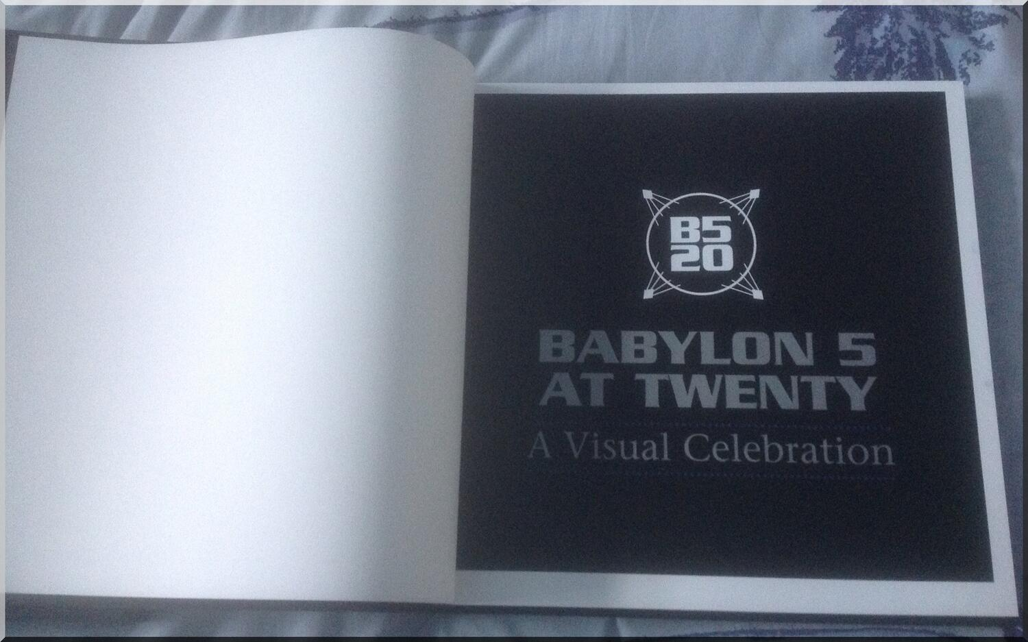 RT @Jarrak: Babylon 5 At Twenty A Visual Celebration is a truely outstanding publication, pricey but worth it:) #B5 http://t.co/xalRNbLERy