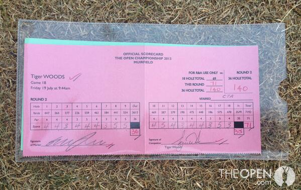 RT @The_Open: And finally the score card of World #1 @TigerWoods #TheOpen http://t.co/qxzP2ec6iA