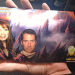 .@AlexisDenisof wore a green shirt for the greenscreen photobooth at the @GeekandSundry party, so we got creative.
