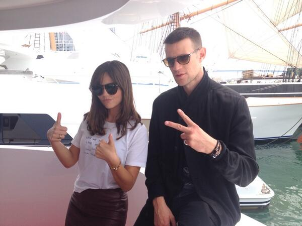 RT @BBCAMERICA: Matt and Jenna aboard the @TVGuideMagazine yacht. #TVGMYacht #SDCC #DoctorWho http://t.co/4JHttO7pit