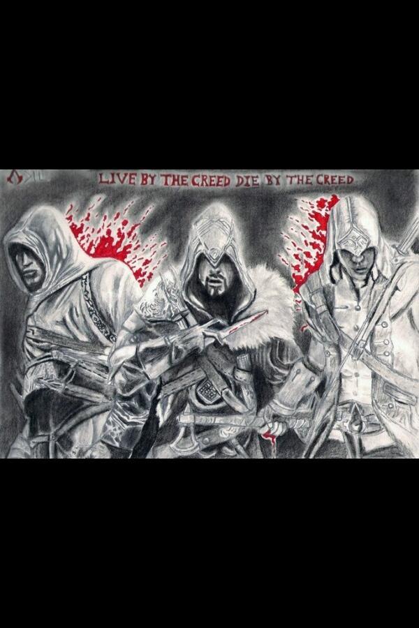 "Nice work Assassin! ""@DarkD3C3PTiON: @assassinscreed @ubiworkshop because I drew the legacy http://t.co/O53NO1uVlC"""