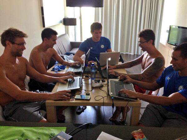 Trying to watch The Open on my ipad but these guys are hogging the Internet. @Nathangadrian @MattGrevers and co. http://t.co/Sc48kbKwf6