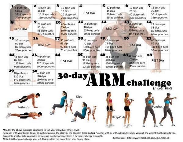 30 day Arm Challenge http://t.co/6B1t9j5yFL