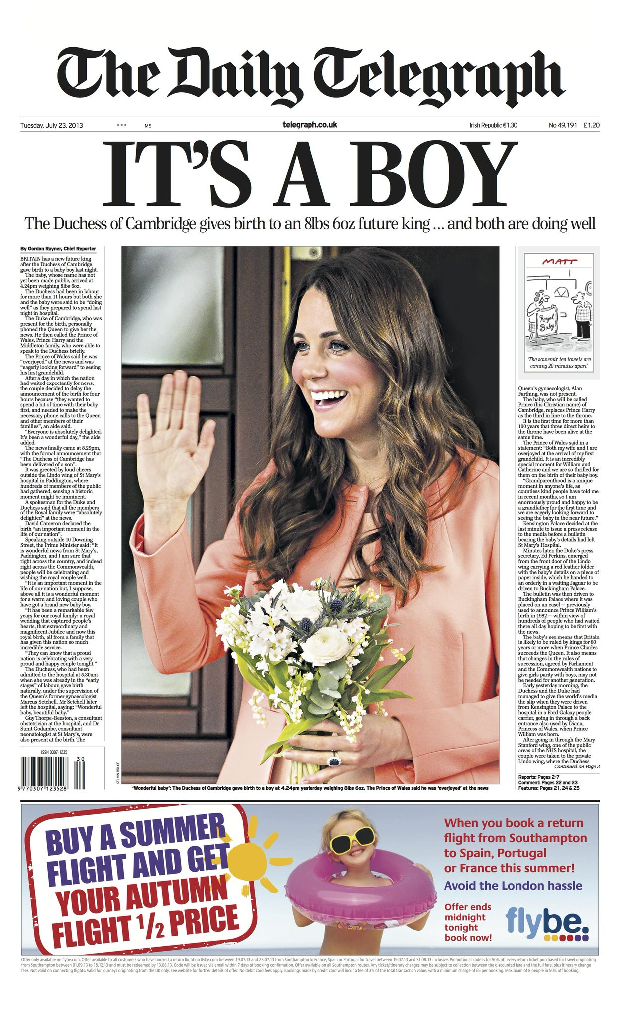 This is the front page of The Telegraph tomorrow http://t.co/IIhSCHfz4C